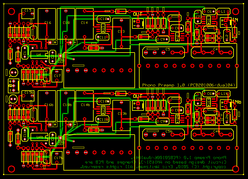 AN1651/Curcio Phono Preamp (PCB design)